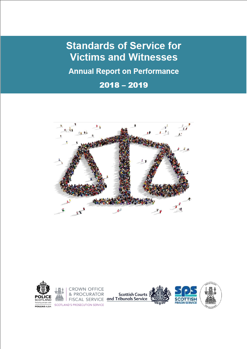 Standards of Service for Victims and Witnesses: Annual Report on Performance 2019 - 20 - Cover image