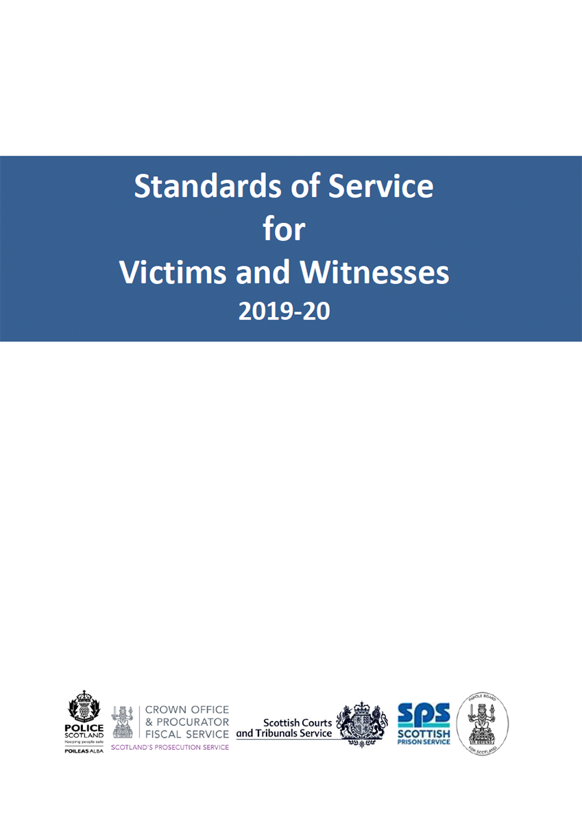 Standards of Service for Victims and Witnesses 2021-22 - Cover image