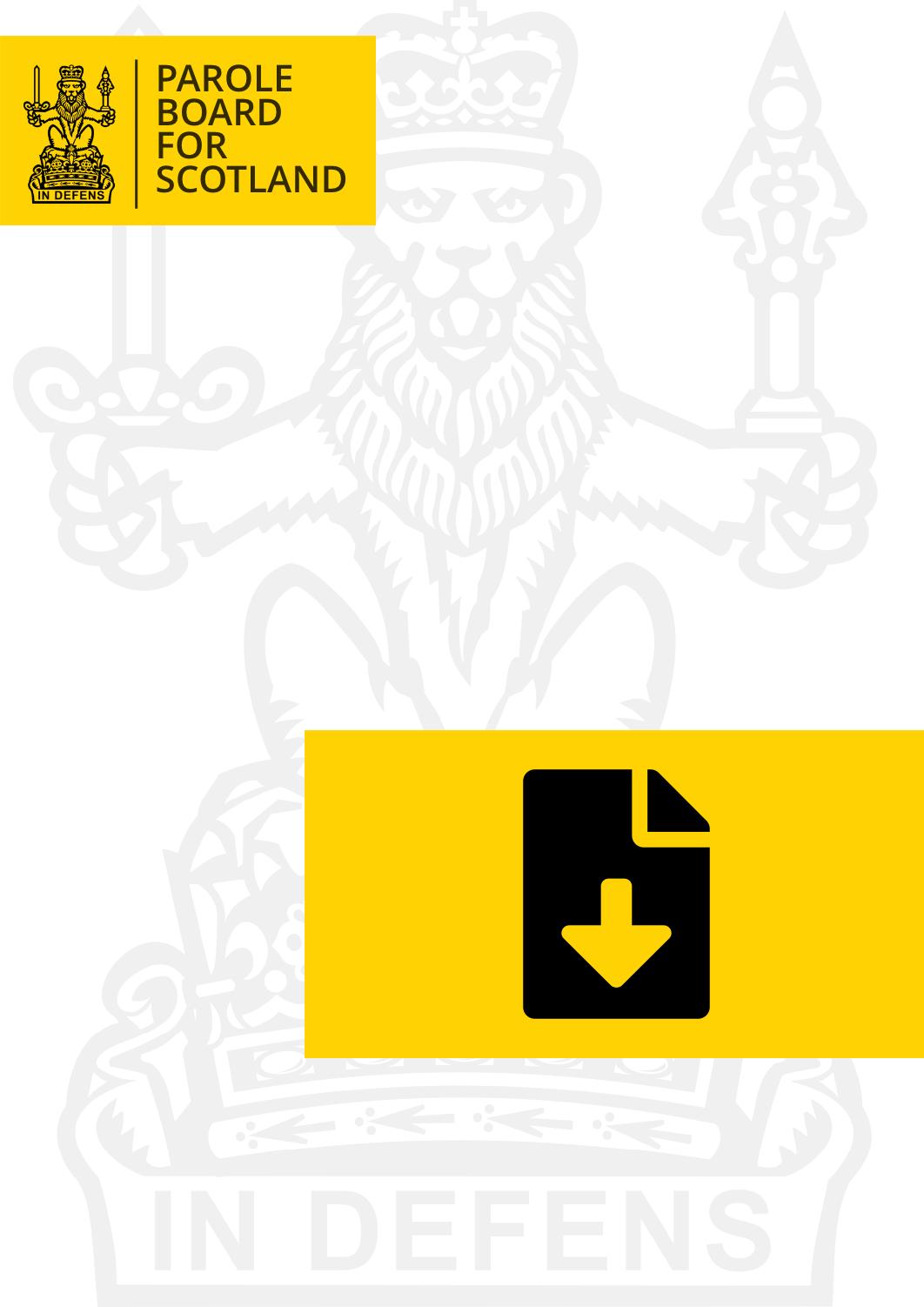 Parole Board Scheme of Delegation - Cover image